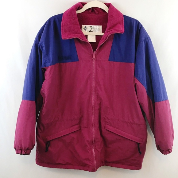 Columbia Jackets & Blazers - Vtg 90s Columbia Fleece Lined Jacket Outer Shell